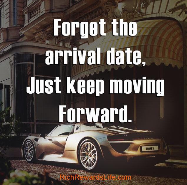 Just keep moving forward